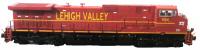 Lehigh Valley Aristocraft Dash 9 posing as NS ES4400